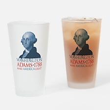 Washington/Adams- Make America Grea Drinking Glass