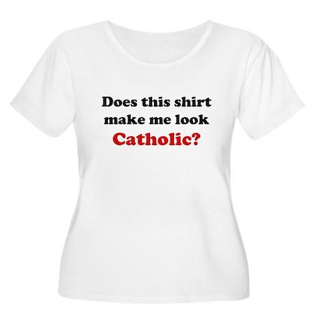 Make Me Look Catholic Women's Plus Size Scoop Neck