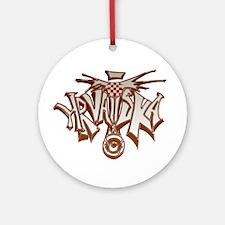 Hrvatska Ornament (Round)