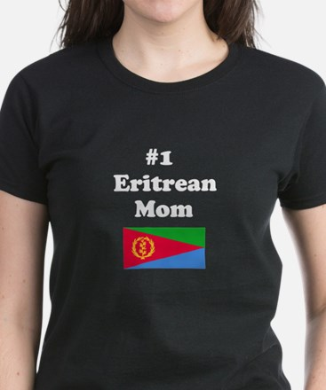 #1 Eritrean Mom Women's Dark T-Shirt