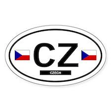 Czech Republic 2F Oval Decal