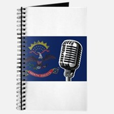North Dakota Flag And Microphone Journal