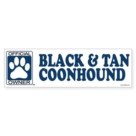 BLACK TAN COONHOUND Bumper Sticker