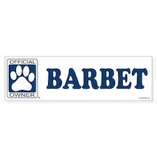 BARBET Bumper Bumper Sticker