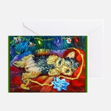 Yorkie Santa Dreams Christmas Cards (Pk of 10)