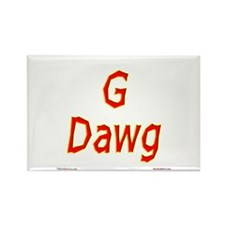 G Dawg Rectangle Magnet