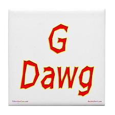 G Dawg Tile Coaster