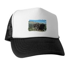 Old wagon, Montana Trucker Hat