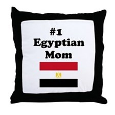 #1 Egyptian Mom Throw Pillow
