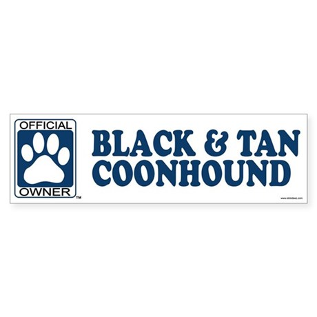 BLACK AND TAN COONHOUND Bumper Sticker
