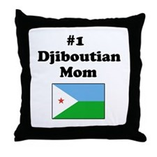 #1 Djiboutian Mom Throw Pillow