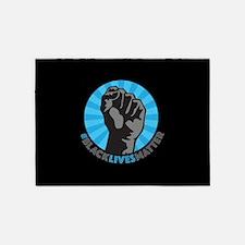 Black Lives Matter Fist 5'x7'Area Rug