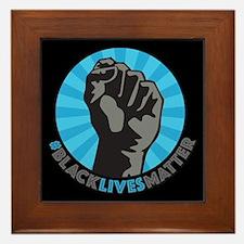 Black Lives Matter Fist Framed Tile