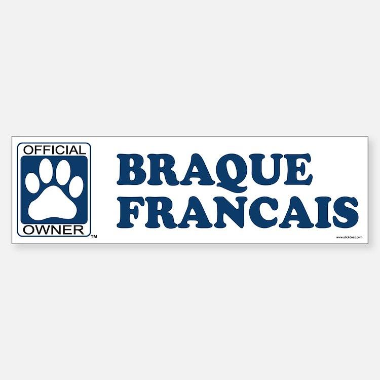BRAQUE FRANCAIS Bumper Bumper Bumper Sticker