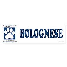 BOLOGNESE Bumper Bumper Sticker