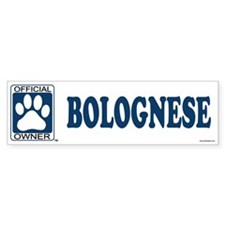 BOLOGNESE Bumper Car Sticker