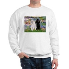 Lilies / 2 Poodles(b&w) Sweatshirt