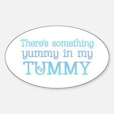 Yummy Tummy Oval Decal