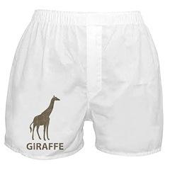 Vintage Giraffe Boxer Shorts
