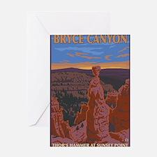 Bryce Canyon, Utah - Thor's Hammer Greeting Cards