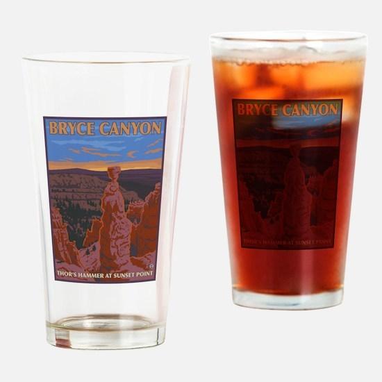Bryce Canyon, Utah - Thor's Hammer Drinking Glass