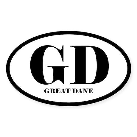 GD Great Dane Sticker