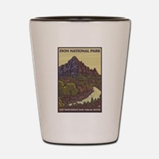 Zion National Park, Utah - The Watchman Shot Glass