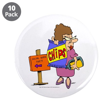 """Social Work Party 3.5"""" Buttons (10 pack)"""