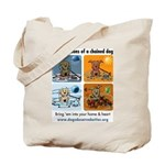 4 Seasons of Chained Dog Tote Bag