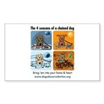 4 Seasons of Chained Dog Rectangle Sticker