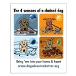 4 Seasons of Chained Dog Small Poster