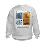4 Seasons of Chained Dog Kids Sweatshirt