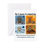 4 Seasons of Chained Dog Greeting Card