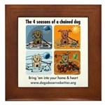 4 Seasons of Chained Dog Framed Tile