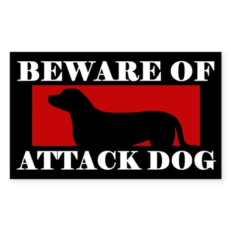 Beware of Attack Dog Greater Swiss Mtn Dog Sticker