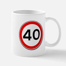 40 MPH Limit Traffic Sign Mugs