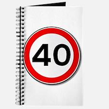 40 MPH Limit Traffic Sign Journal