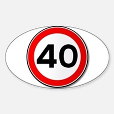 40 MPH Limit Traffic Sign Decal