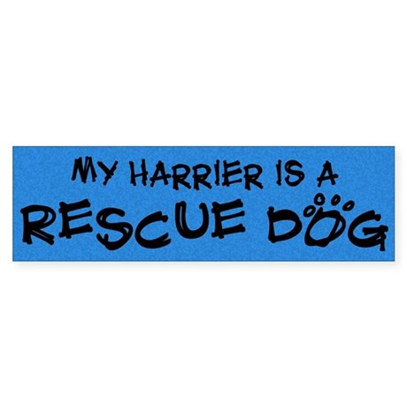 Rescue Dog Harrier Bumper Sticker