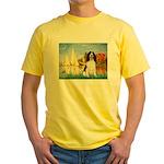 Sailboats / Eng Spring Yellow T-Shirt