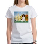 Sailboats / Eng Spring Women's T-Shirt