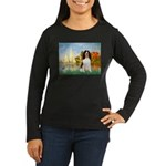 Sailboats / Eng Spring Women's Long Sleeve Dark T-