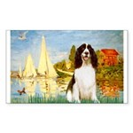 Sailboats / Eng Spring Sticker (Rectangle)