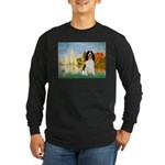 Sailboats / Eng Spring Long Sleeve Dark T-Shirt