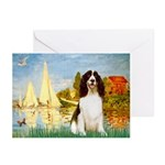 Sailboats / Eng Spring Greeting Cards (Pk of 10)