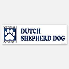 DUTCH SHEPHERD DOG Bumper Bumper Bumper Sticker