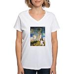 Umbrella / Eng Spring Women's V-Neck T-Shirt