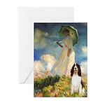 Umbrella / Eng Spring Greeting Cards (Pk of 20)