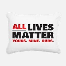 All Lives Matter Rectangular Canvas Pillow