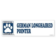 GERMAN LONGHAIRED POINTER Bumper Bumper Sticker